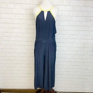 Trouve Silk Wide Leg Jumpsuit